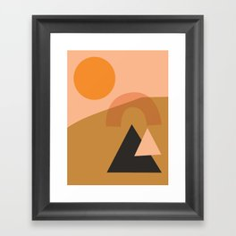 Abstract Hiking Shapes Framed Art Print