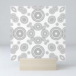 Circles within Circle  2 - White Mini Art Print