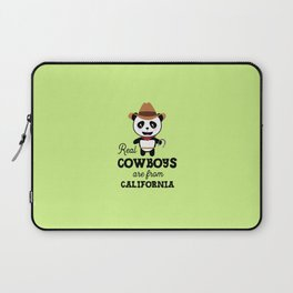 Real Cowboys are from California  T-Shirt Laptop Sleeve