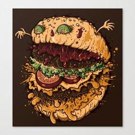 Monster Burger Canvas Print