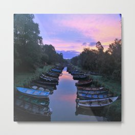 Early Morning at the Boat park Metal Print