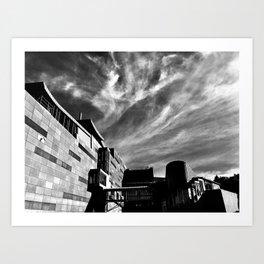 Clouds Over Te Papa Art Print