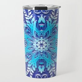 Baroque style texture on grunge background Travel Mug