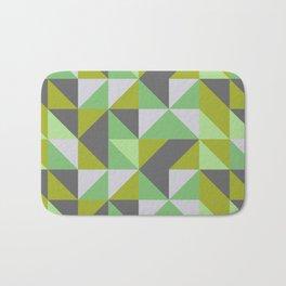 Green & Gray Patchwork Bath Mat