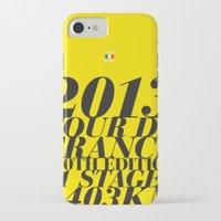 tour de france iPhone & iPod Cases featuring 2013 Tour de France: Maillot Jaune by Dushan Milic