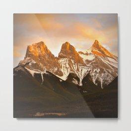 Three Sisters - Golden Peaks Metal Print