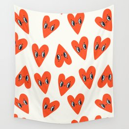 Happy Hearts Wall Tapestry