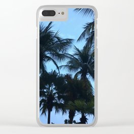 Palm trees at Sunway Lagoon Resort, Malaysia Clear iPhone Case