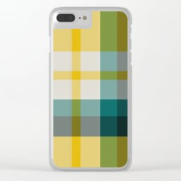 Plaid 15 Clear iPhone Case