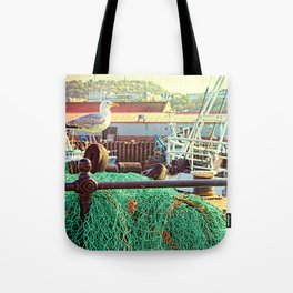 Busy Harbour Tote Bag