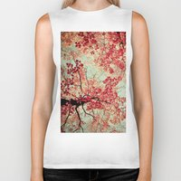 modern Biker Tanks featuring Autumn Inkblot by Olivia Joy StClaire