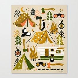 Camping Kit – Olive Palette Canvas Print