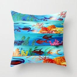 Beautiful Sea Life Throw Pillow