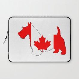 "Scottish Terrier ""Canada"" Laptop Sleeve"