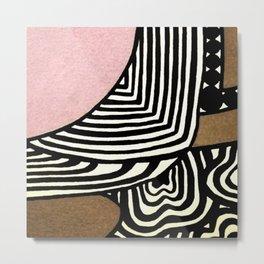 Dusty Pink Metal Print