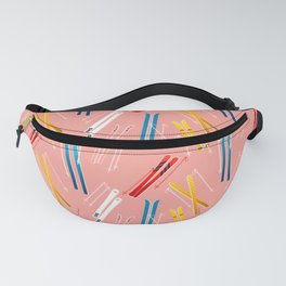 Colorful Ski Illustration and Pattern no 2 Fanny Pack