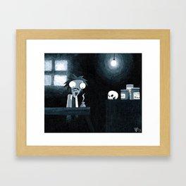The Mad Scientist Framed Art Print