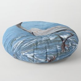 Great Blue Heron on the Pacific Coast in Costa Rica Floor Pillow