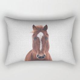 Horse II - Colorful Rectangular Pillow