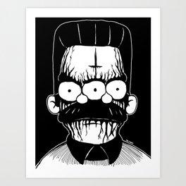 Black Metal Religious Guy Art Print