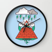 illuminati Wall Clocks featuring Illuminati by Tshirtbaba