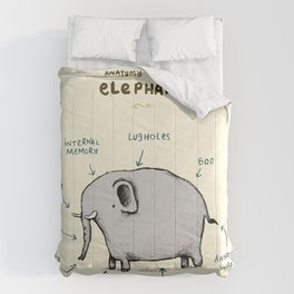 Anatomy of an Elephant Comforters