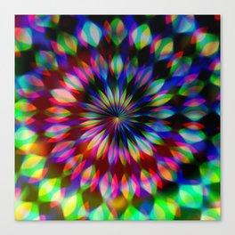 Psychedelic Rainbow Swirl Canvas Print