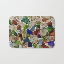 Colored Glass Bath Mat