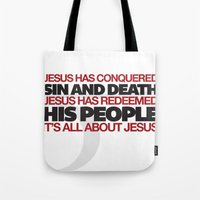 easter Tote Bags featuring Easter by Trey VanCamp