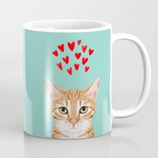 Mackenzie - Orange Tabby Cute Valentines Day Kitten Girly Retro Cat Art cell phone Mug