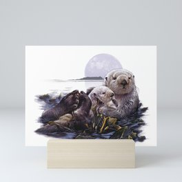 Otter Mom Mini Art Print