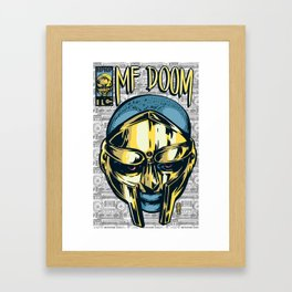 MF Doom Comic Framed Art Print