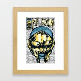 MF Doom Comic Framed Art Print