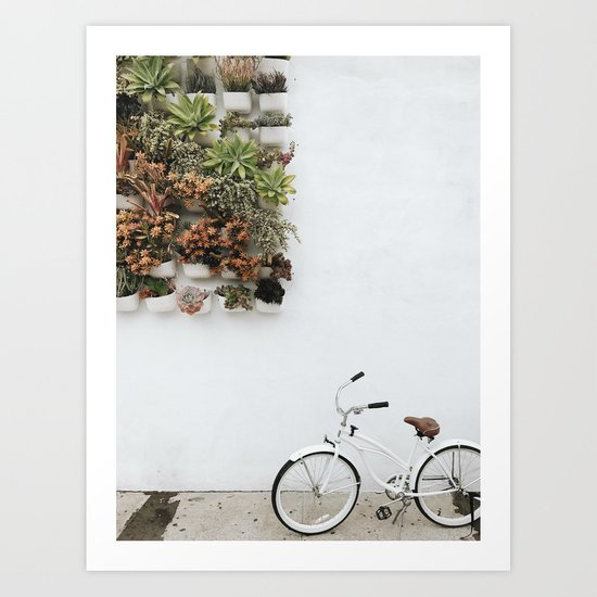 Wall Plants Bike Art Print By Beccatapert Society6