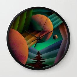 Planet Path Wall Clock