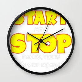 I can Start and Stop Reading Comics Wall Clock