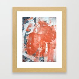 Interrupt [1]: a pretty minimal abstract acrylic piece in pink white and blue by Alyssa Hamilton Art Framed Art Print