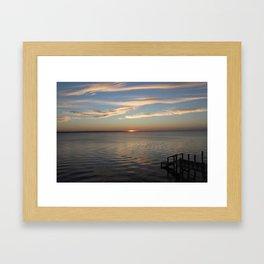 Sunset Over the Sound [2] Framed Art Print