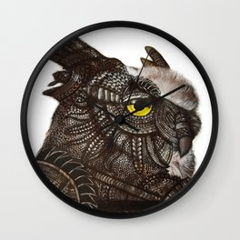 Owl - Armoured Wall Clock