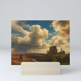 Landscape in Campagna Italy with Gathering Storm by Oswald Achenbach Mini Art Print