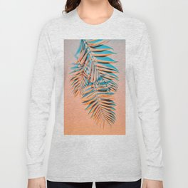 Pastel colored palm leaves Long Sleeve T-shirt