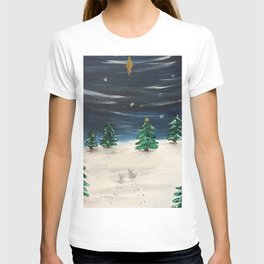 Christmas Snowy Winter Landscape T-shirt