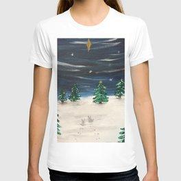 Christmas Snowy Winter Landscape T-shirt