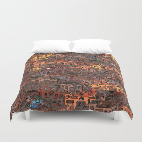 Gold Favela Duvet Cover