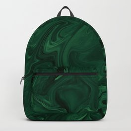 Modern Cotemporary Emerald Green Abstract Backpack
