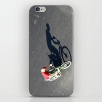 cycling iPhone & iPod Skins featuring Cycling by Avigur