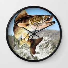 Walleye Jumping  Wall Clock