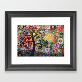 Abstract Art Landscape Original Painting ... Tree of Wishes Framed Art Print