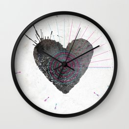 your heart is my target Wall Clock