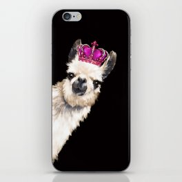 Llama Queen iPhone Skin